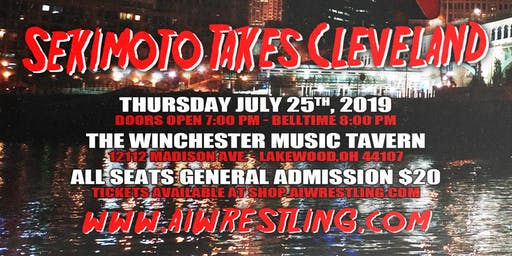 """Absolute Intense Wrestling Presents """"Sekimoto Takes Cleveland"""""""