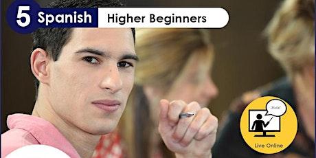 TALK in Spanish Live Online: Higher Beginnes (Mondays) tickets