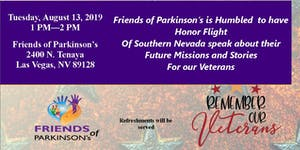 Honor Flight comes to Friends of Parkinson's Monthly...