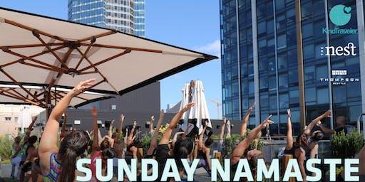 Sunday Namaste: Kind Traveler Rooftop Yoga | The Nest | Thompson Seattle