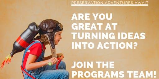 Preservation Durham Programs Team Meet-Up