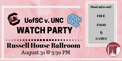 UofSC vs. UNC Football Watch Party