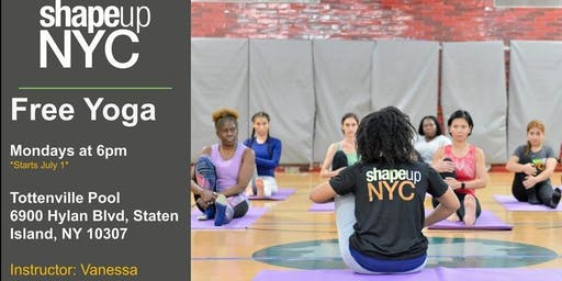 Tottenville Pool : Free Yoga with Shapeup NYC