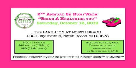 "2nd Annual 5K Run/Walk:  ""Being a Healthier You"" tickets"
