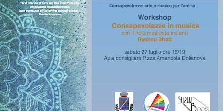 Workshop: Consapevolezze in musica biglietti