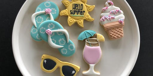 ** SOLD OUT ** Summer Favorites - Beginner Cookie Decorating Class