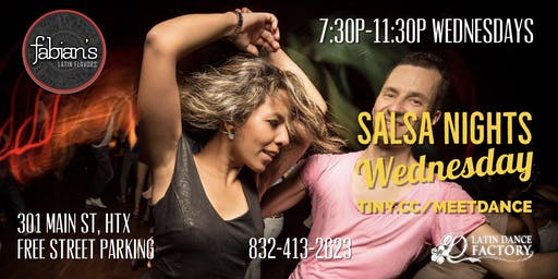 Free Tropical Salsa Wednesday Social @ Fabian's Latin Flavors 10/16