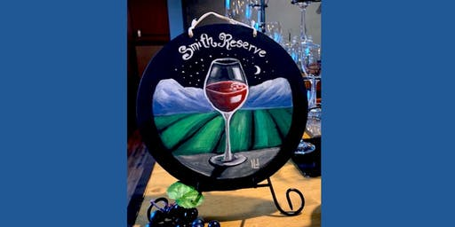Wine Glass Chalk Board Sign