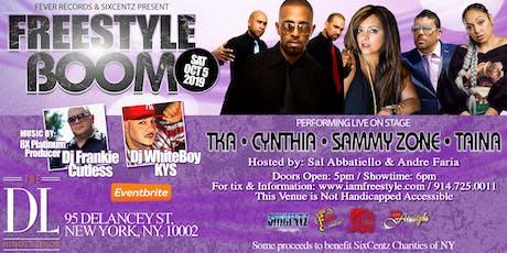 Freestyle Boom With TKA- Cynthia -  Sammy Zone - Taina tickets
