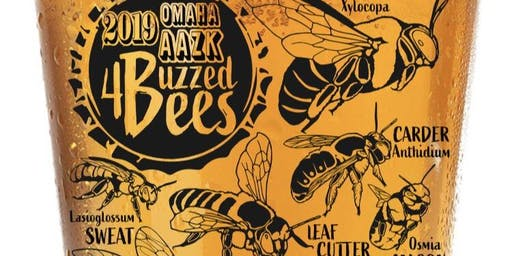 Pint glass Pick up - Omaha AAZK Buzzed For Bees