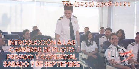 Introducción a la Carrera de Piloto Aviador boletos