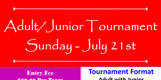 RE-SCHEDULED TO 7/28-  Adult/Junior Golf Tournament at The Bluffs