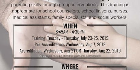 Group Triple P Facilitator Training [July 23-25, 2019] tickets