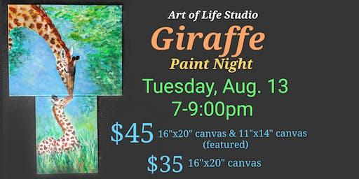 Paint Night: Giraffe