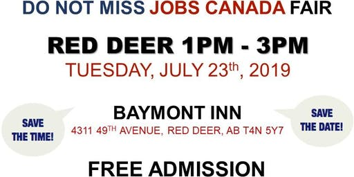 FREE: Red Deer Job Fair – July 23rd, 2019