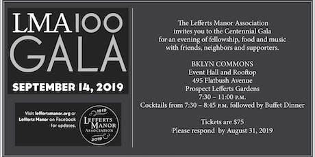 LMA Centennial Gala tickets