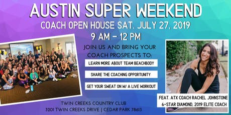 Austin Super Weekend: Special Open House Edition tickets
