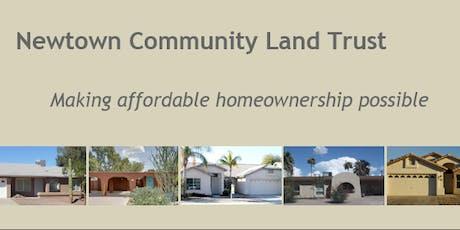 Newtown Community Land Trust Workshop - Chandler 7/18/2019 tickets
