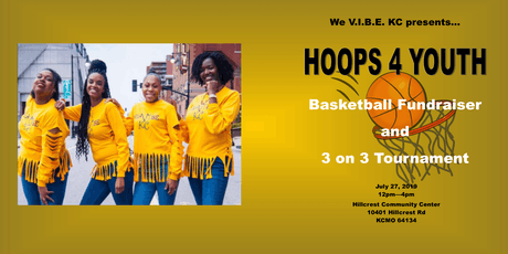 We VIBE KC 3 on 3 Basketball Fundraiser tickets