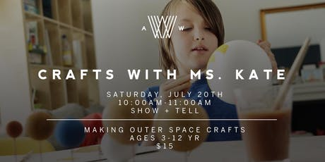 Crafts with Ms. Kate - July 20th tickets