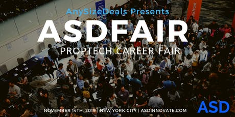 ASDFair -  Global PropTech Career Fair during NYC Real Estate Tech Week tickets