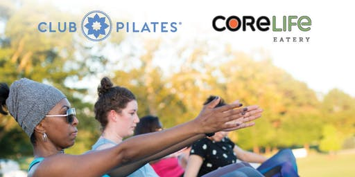 CoreLife Eatery Outside Patio Club Pilates Class
