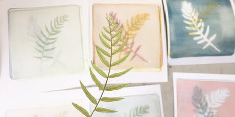 Botanical and Textural mono-printing tickets
