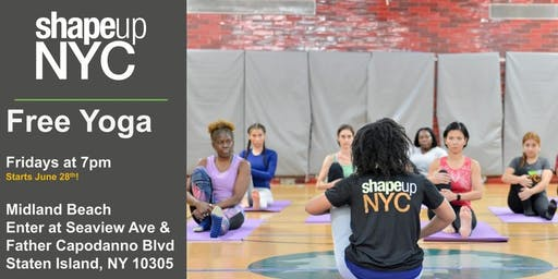 Midland Beach : Free Yoga with ShapeUp NYC