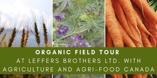 Organic Field Tour at Leffers Brothers Ltd. with Agriculture and Agri-Food Canada