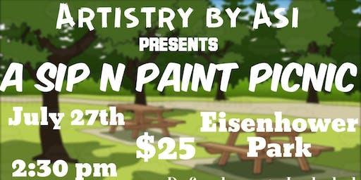 Sip N Paint Picnic