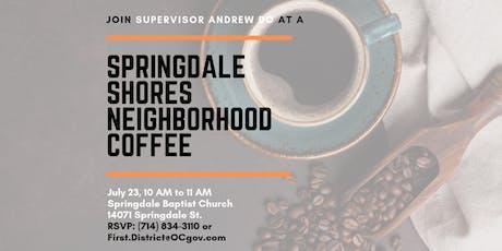 Springdale Shores Neighborhood Coffee with Supervisor Andrew Do tickets