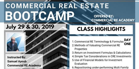 A 2-Day Commercial Real Estate Boot-Camp tickets