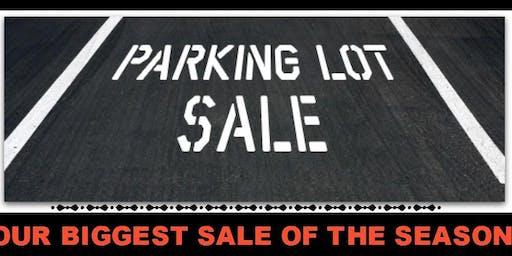 Parking Lot Sale!