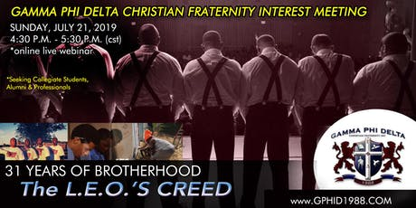 Gamma Phi Delta Christian Fraternity - National Interest Meeting tickets