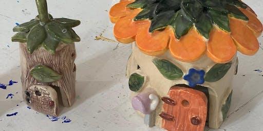 Fairy Houses - Clay Hand Building Workshop