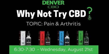 Why Not?  Wednesday Wellness Series Discussing CBD Benefits tickets
