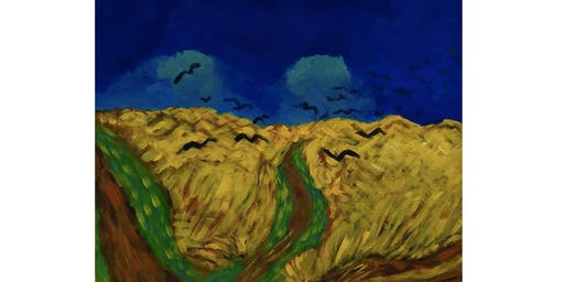 Van Gogh's Wheatfield with Crows - Paint & Sip Night - Snacks Included