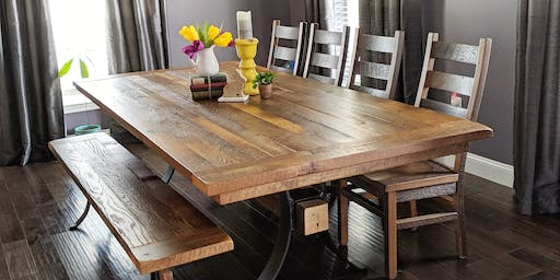 Design Your Dream Table and Chairs  at Rustic Red Door Co.