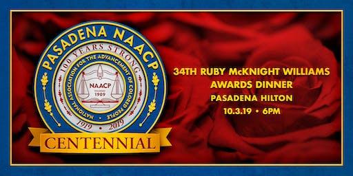 NAACP Pasadena Branch 34th Ruby McKnight Williams Awards Dinner - 2019