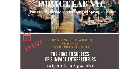NAVIGATING IMPACT: THE ROAD TO SUCCESS OF 3 IMPACT ENTREPRENEURS tickets