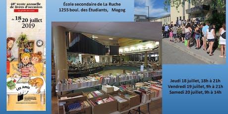 Grande vente annuelle de livres d'occasion  billets