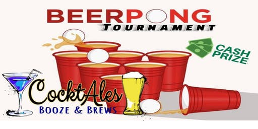 BEER PONG Fridays at CocktAles! Tournament, Win Cash!