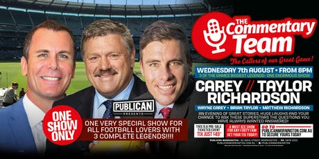 The Commentary Team ft Carey, Taylor & Richardson LIVE at Publican! tickets