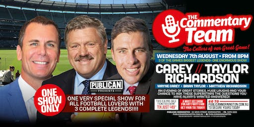 The Commentary Team ft Carey, Taylor & Richardson LIVE at Publican!