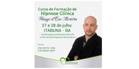 CURSO DE FORMAÇÃO EM HIPNOSE CLÍNICA -ITABUNA ingressos
