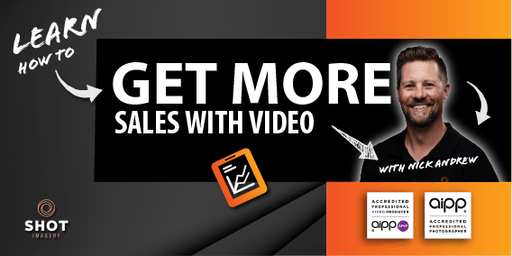 Learn how to 'GET MORE SALES WITH VIDEO' with Nick Andrew