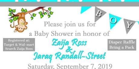 Zaija and Jaraq Baby Shower tickets