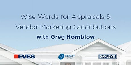 Wise Words for Appraisals and Vendor Marketing Contributions tickets
