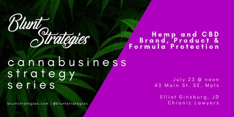 Cannabusiness Strategy Series: Hemp and CBD Brand, Formula & Product Protection tickets