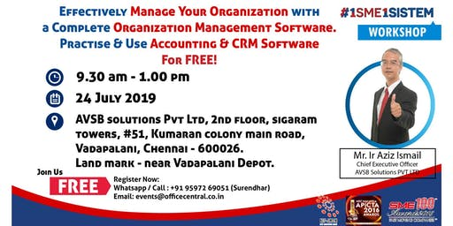 Effectively Manage Your Organization with a Complete Organization Management Software. Practice & Use  Accounting & CRM Software for FREE. (24 July 2019)